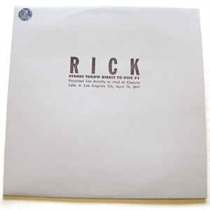 RICK DIRECT TO DISC (USED)