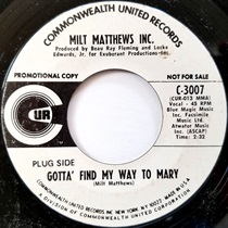 GOTTA FIND MY WAY TO MARY(USED)
