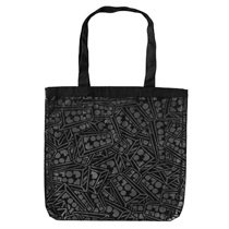 Fools Gold All Over Logo Tote (black