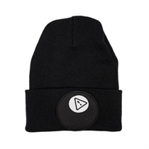 8ball Patch Beanie On Black
