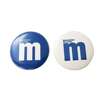 MANHATTAN CAN BADGE (2P SET)