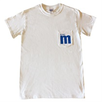 M LOGO POCKET T-SHIRTS WHITE(L)
