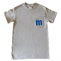M LOGO POCKET T-SHIRTS GRAY(S)