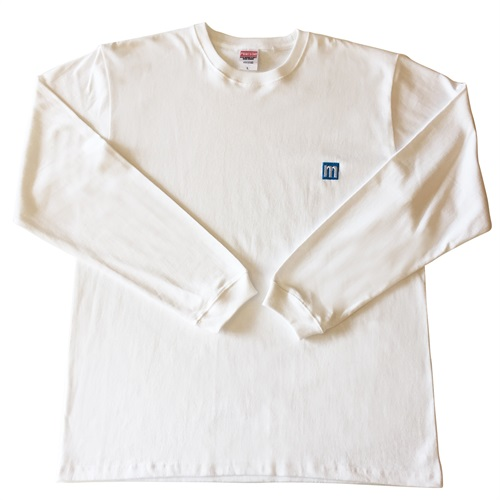 M LOGO LONG SLEEVE T-SHIRTS BLUE/WHITE(XL)