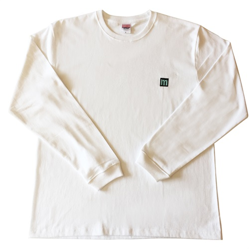M LOGO LONG SLEEVE T-SHIRTS BLACK/MINT GREEN(L)