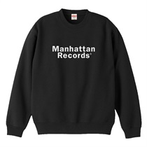 MANHATTAN RECORDS CLASSIC LOGO CREW NECK SWEAT BLACK(M)