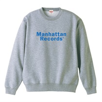 MANHATTAN RECORDS CLASSIC LOGO CREW NECK SWEAT GREY(L)