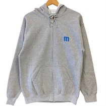 ZIP UP HOODIE GREY(M)