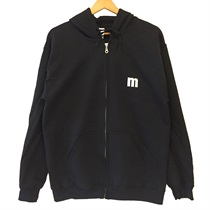 ZIP UP HOODIE BLACK(M)