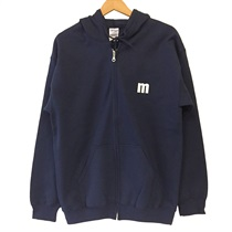 ZIP UP HOODIE NAVY(XL)