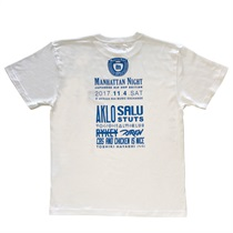 MANHATTAN NIGHT TEE WHITE(M)