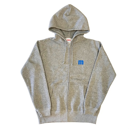 M LOGO ZIP UP HOODIE GRAY(XL)