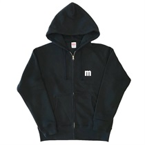M LOGO ZIP UP HOODIE BLACK(L)
