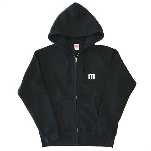 M LOGO ZIP UP HOODIE BLACK(M)
