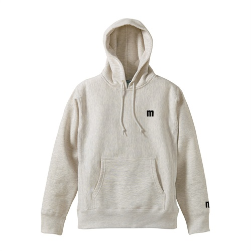 M LOGO PULLOVER HOODIE OATMEAL(M)