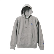 M LOGO PULLOVER HOODIE GRAY(M)