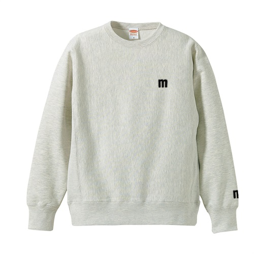 M LOGO SWEAT OATMEAL(M)