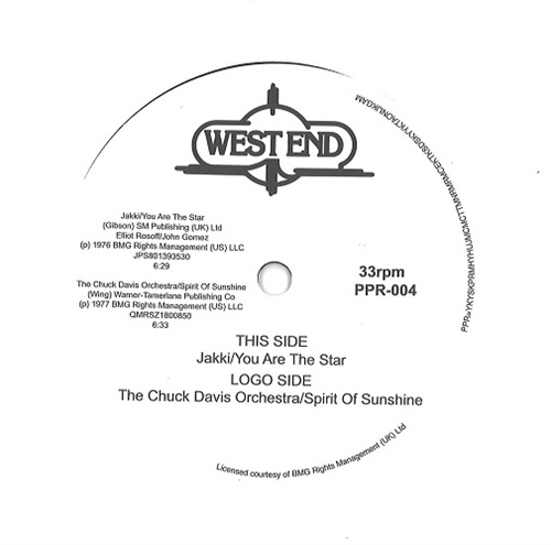 "YOU ARE THE STAR / SPRIT OF SUNSHINE (7"")"