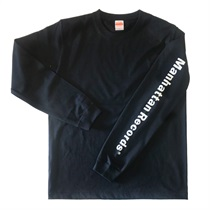 MANHATTAN LONG SLEEVE TEE BLACK(XL)
