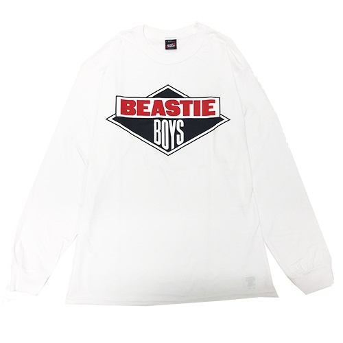 BEASTIEBOYS LOGO L/S TEE-WHITE(XL)