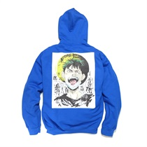 NATURAL BORN PAIN HOODIE BLUE(L)