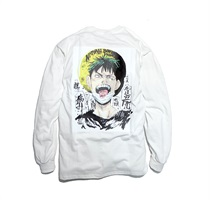 NATURAL BORN PAIN LONG SLEEVE TEE WHITE(L)