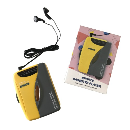YELLOW:CASSETTE PLAYER