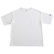 BIG SILHOUETTE POKE-TEE WHITE (XL)