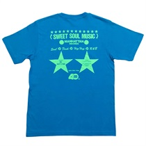 MANHATTAN 40th: 復刻ショッパーTEE II  (ORIGINAL TURQUOISE BLUE) SIZE: L