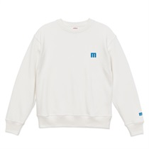 M LOGO刺繍SWEAT OFF WHITE (L)