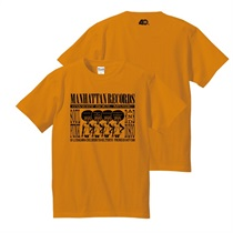 MANHATTAN 40th: 復刻ショッパーTEE (ORANGE X BLACK) SIZE: L