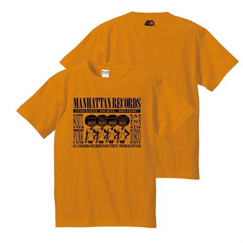 MANHATTAN 40th: 復刻ショッパーTEE (ORANGE X BLACK) SIZE: XL