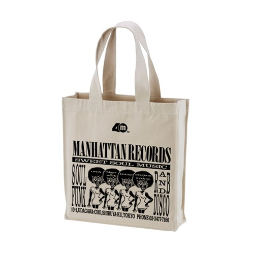 MANHATTAN 40th: 復刻ショッパー CANVAS TOTE BAG (NATURAL X BLACK)