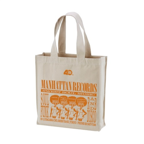 MANHATTAN 40th: 復刻ショッパー CANVAS TOTE BAG (NATURAL X ORANGE)